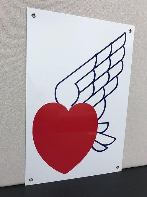 DOUGLAS HEART AVIATION GASOLINE REPRODUCTION SIGN