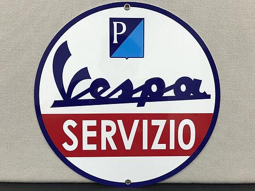 VESPA SERVIZIO REPRODUCTION SIGN