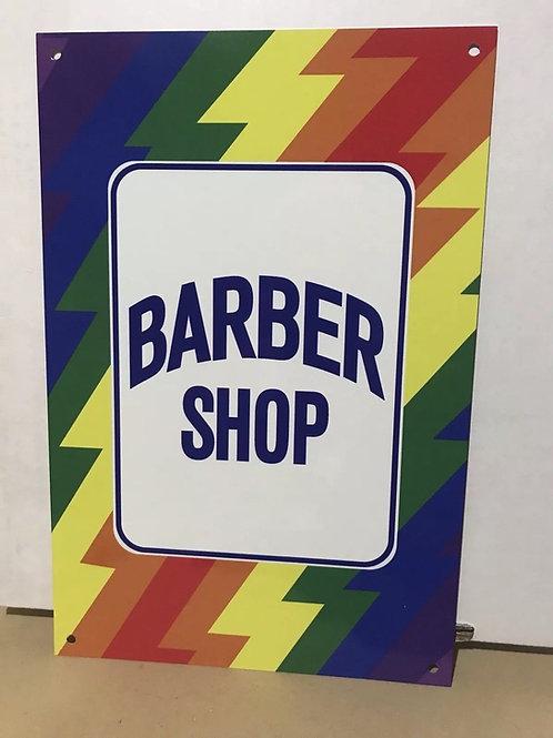 Barber Shop Rainbow Vintage Style