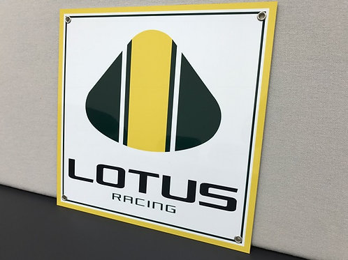 LOTUS RACING REPRODUCTION SIGN