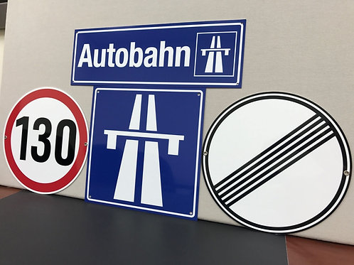 AUTOBAHN COMBO 4 SIGNS REPRODUCTION