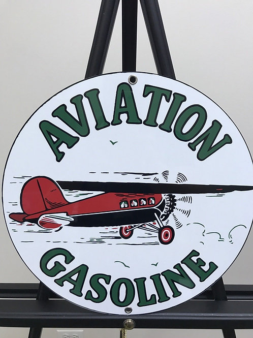 Aviation Gasoline Sign