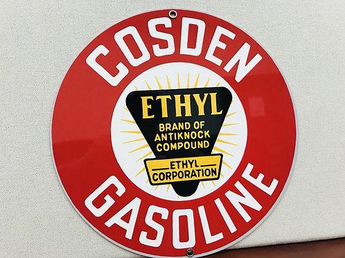 Cosden Ethyl Gasoline Sign