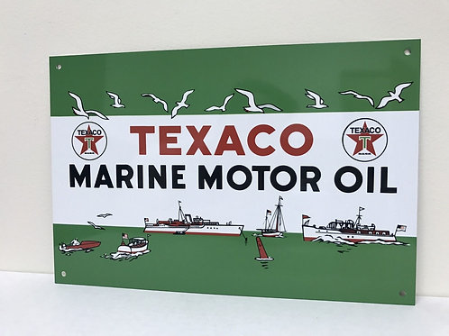 TEXACO MARINE OIL REPRODUCTION SIGN