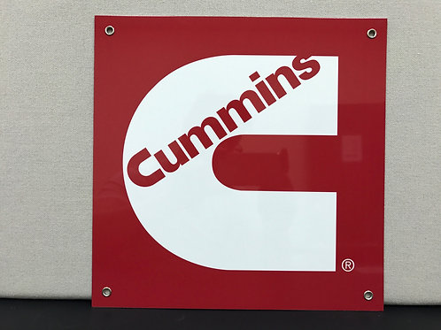 CUMMINS RED/WHITE REPRODUCTION SIGN
