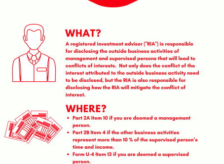 Outside Business Activities: What, Where, and When?
