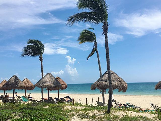 The view of the beach at Finest Resort in Playa Mujeres, Mexico.