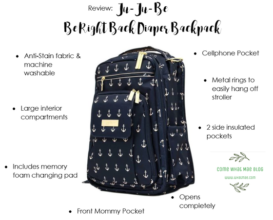 Why I'm obsessed with my Ju-Ju-Be Be Right Back diaper backpack