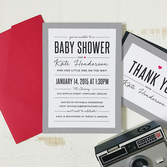 Set the tone for your baby shower by making sure your invitations are pure perfection with Basic Inv