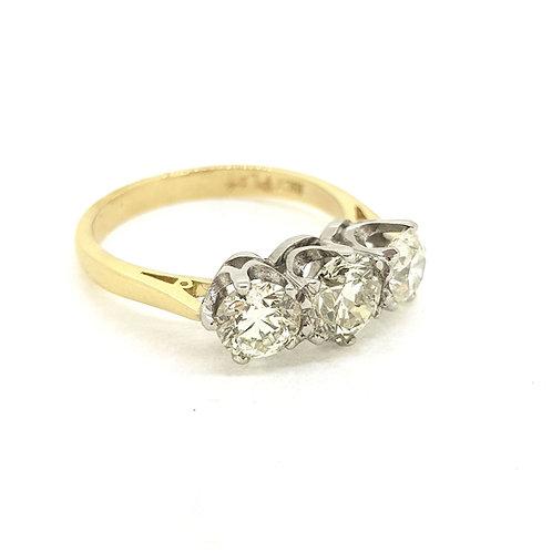 Platinum and diamond 18Ct three stone D1.80Cts