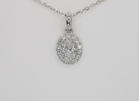 Diamond pendant and chain 0.57cts
