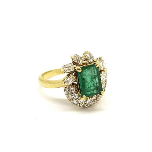 Vintage baguette diamond cluster ring Em est 2Cts D1.20Cts