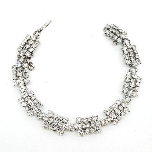French Art Deco diamond bracelet.