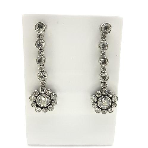 Flower drop earrings TDW6.0Cts