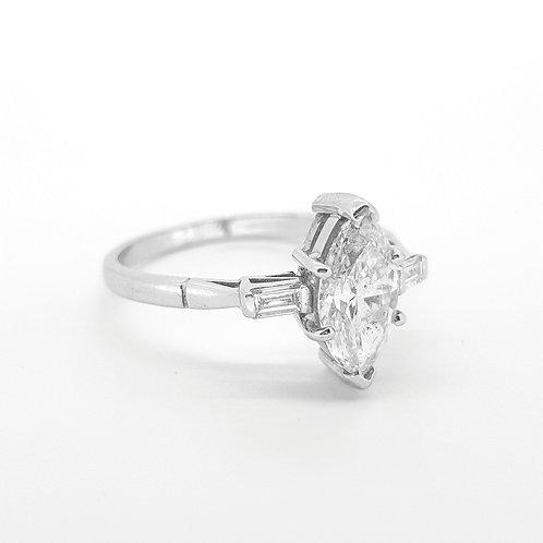 Marquis shaped diamond ring.