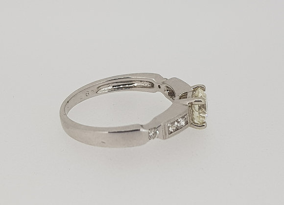 Solitaire diamond ring.