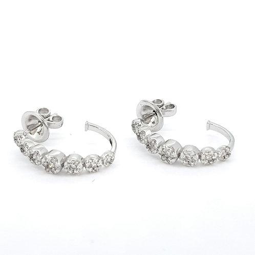 18Ct diamond hoop earrings D0.70Cts