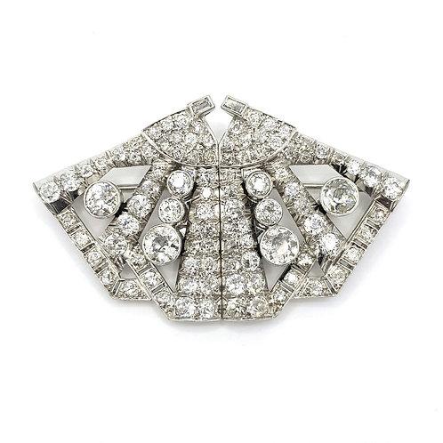 Diamond double clip platinum est6. 50cts
