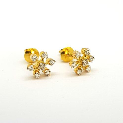 18Ct gold diamond studs