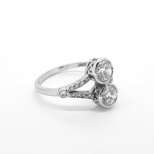 Toi et Moi Diamond ring 1.60ct