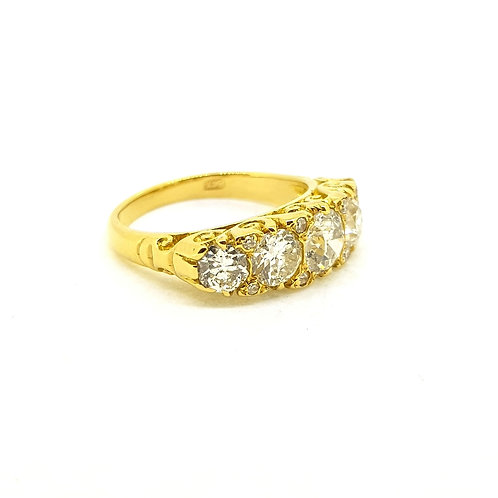 Five stone Victorian diamond ring Est. 2.10Cts