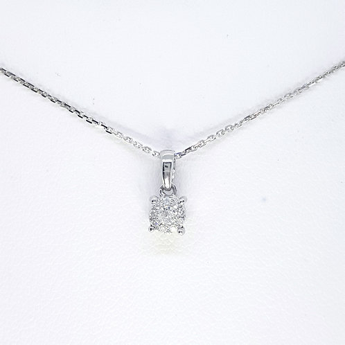 Diamond pendant and chain D0.08CTS