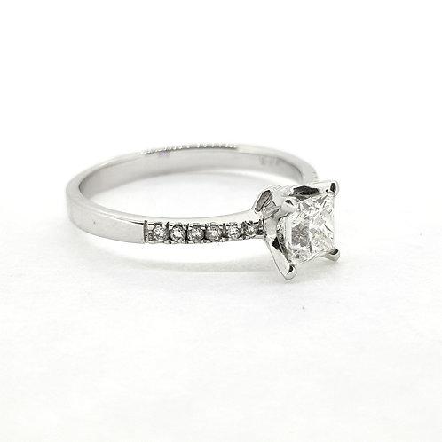 Princess cut diamond ring Cs0.63Ctsx0.09Cts
