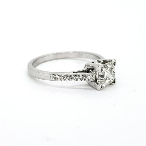 Cushion cut diamond ring D1.01CTS cs.