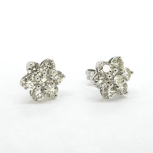 Diamond star earrings 2.20Cts