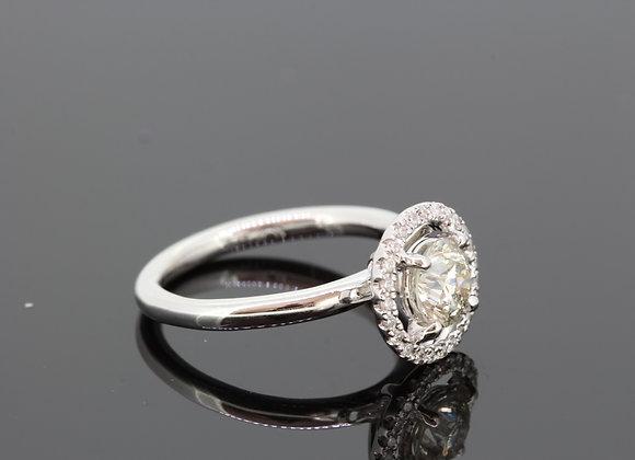 Diamond halo ring d1.30cts