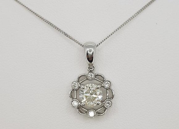 Diamond pendant cs 0.70cts