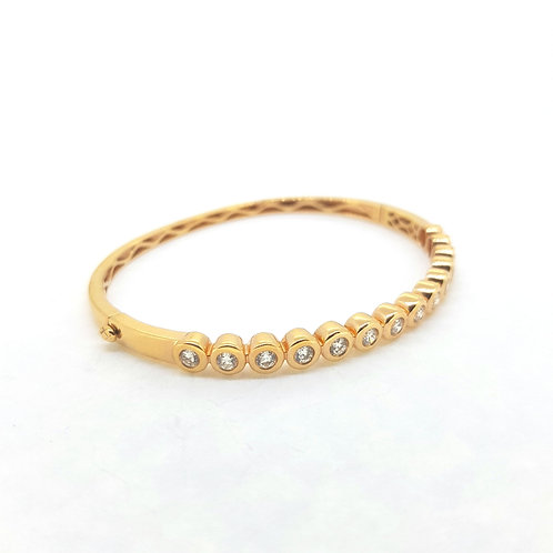 Rose gold diamond bangle 1.12Cts