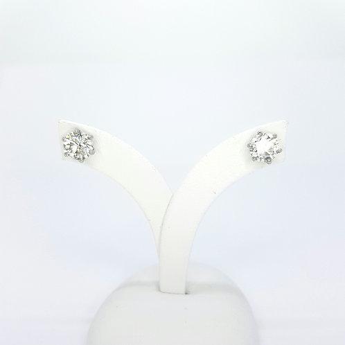 Diamond studs 18CT D2.09CTS