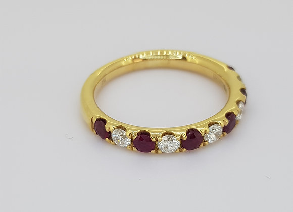 Ruby and diamond half et r0.50cts d0.33cts