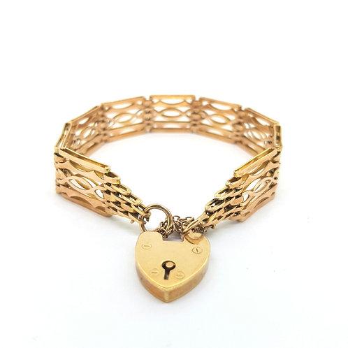 Antique 9ct gold Gate Bracelet