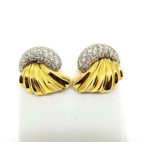 Antique diamond earrings Est. D1.6Cts