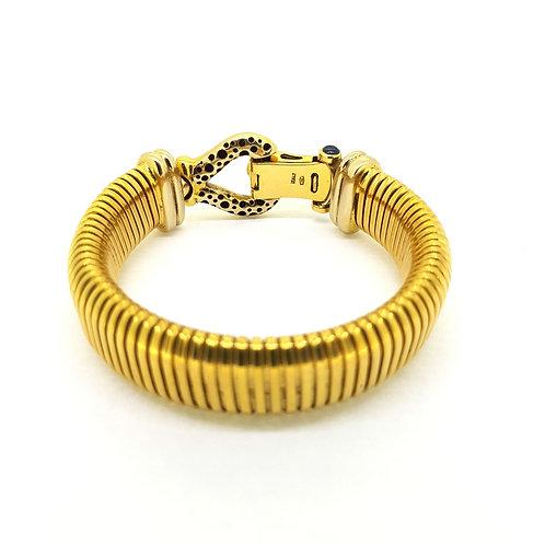Italian Vintage 'Turbo Gas Tube' bracelet 18Ct 54.5gms