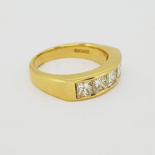 18 carat channel set diamond ring D 1.60 carats