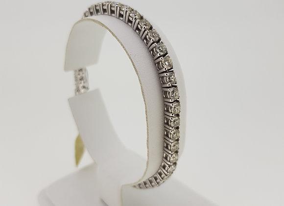 Diamond line bracelet 7.22cts