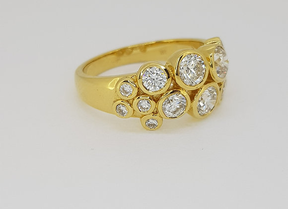 Boodle style diamond ring tdw1.55cts