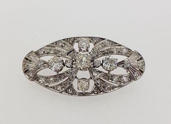 Platinum Diamond Brooch.
