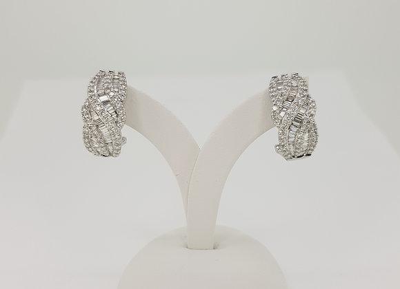 Creole diamond earrings.