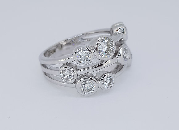 Boodle style ring tdw1.50cts