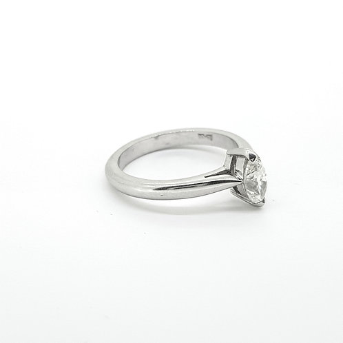 Platinum set Marquise solitaire ring 0.59 cts