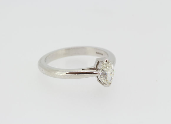 Platinum and diamond single stone
