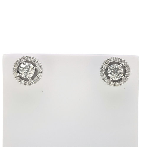 Fixed diamond halo studs