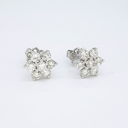 Diamond cluster earrings 2.0cts