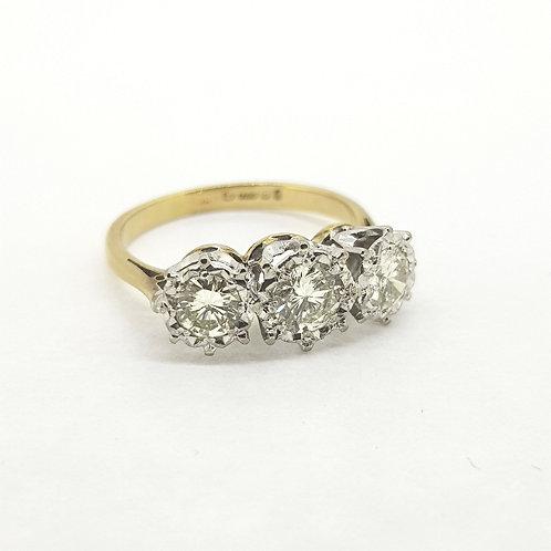 Diamond three stone est.1.0Cts Hm1975