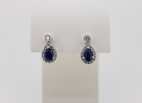 18ct sapphire and diamond earrings.