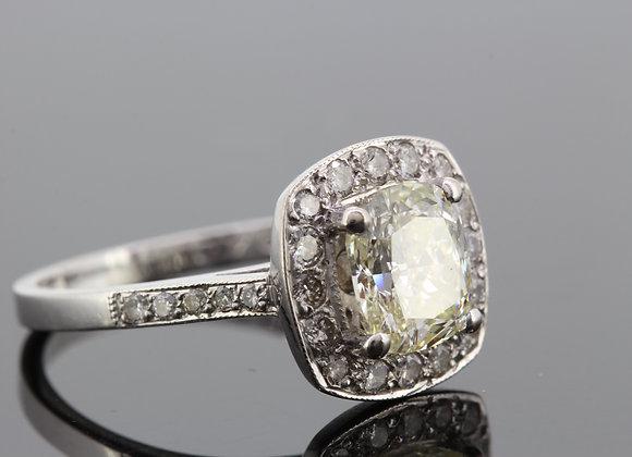 Diamond cluster ring cs1.70cts +.44cts